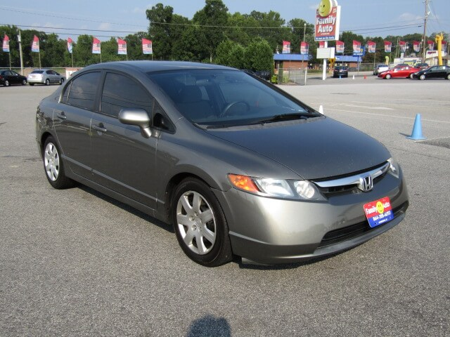 Used Hondas Near Me Family Auto Of Anderson 2007 Honda Civic LX Quick  Approval Auto Loans Budget Friendly Used Cars Bad Credit No Credit Low Down  Payments