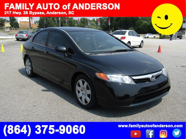 Used Hondas Near Me Family Auto Of Anderson Budget Friendly Honda Civic Bad  Credit No Credit Low Down Payments Pre Owned Hondas BHPH Easy Financing