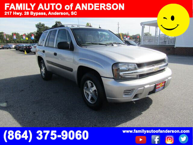 used suvs used chevys used trucks anderson family auto of anderson 2005 chevrolet trailblazer. Black Bedroom Furniture Sets. Home Design Ideas