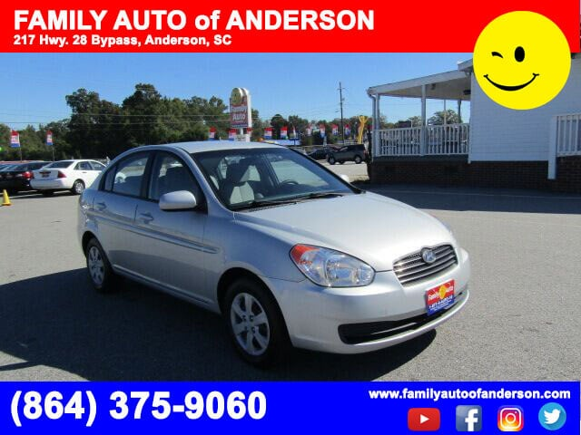 used cars used accents anderson family auto of anderson 2011 hyundai accent bad credit no credit. Black Bedroom Furniture Sets. Home Design Ideas