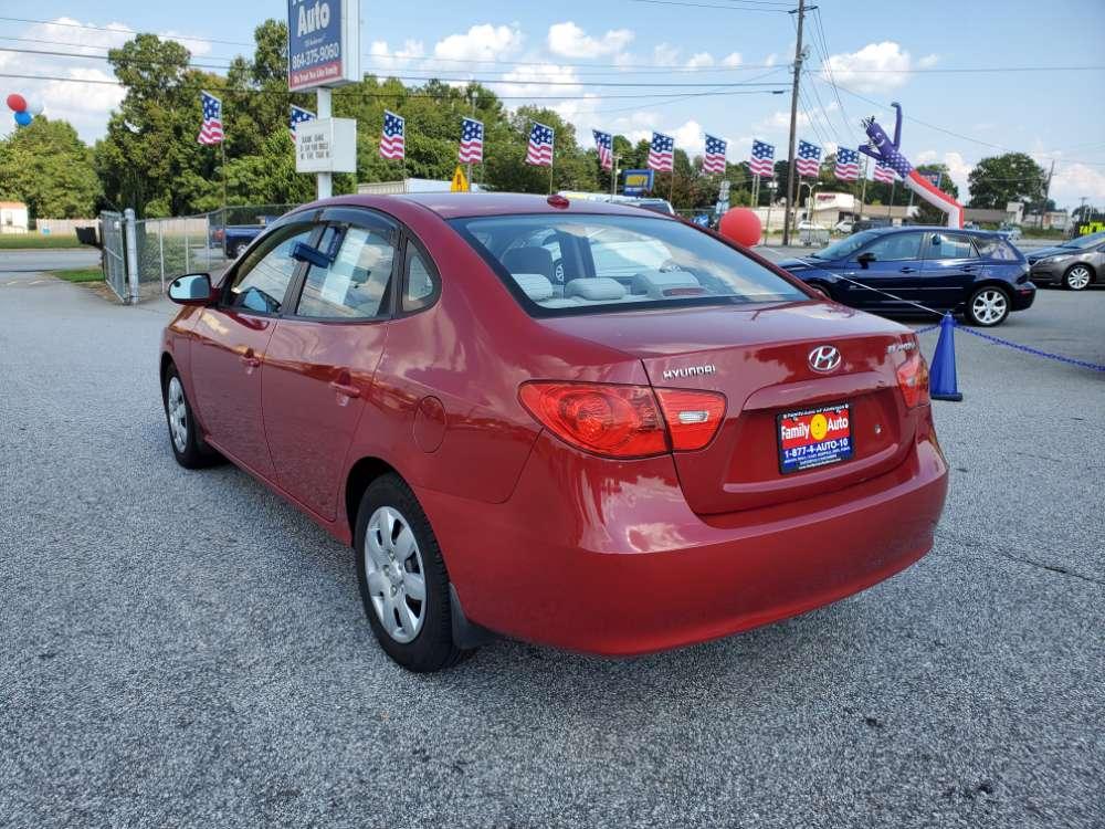 Hyundai Elantra 2007 Red